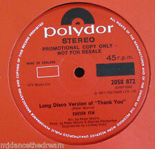"CHOSEN FEW ~ Long Disco Version Of Thank You ~ 12"" Single PROMO"