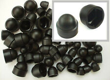 Black Plastic Nut Cover Caps. M6. M8. M10 Mixed 50 Pack 10mm, 13mm, 17mm Size