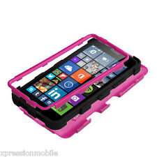 For Microsoft LUMIA 640 Hybrid Tuff Protective Dual Layer Hard Case Cover PINK