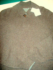 Brunello Cucinelli Cashmere Button Collar Sweater NWT XL Euro 56 / US 46 $1795