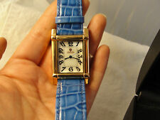 New In Box! Croton Watch Rose Gold Mother of Pearl Face Blue Alligator Band