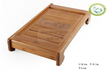 "Chinese Bamboo New Gongfu Tea Table Serving Tray ""DengLongMen"" 15.4""*8.7"""