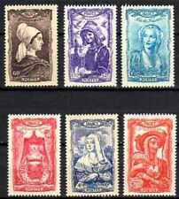 France 1943 Yvert n° 593 à 598 neuf ** 1er choix