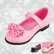 Girl Mary Jane Dress Up Shoes Wedding Flower Girl Bridesmaid Various Sizes GS001