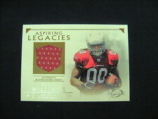 RYAN WILLIAMS PLAYER-WORN JERSEY CARD--2011 TOPPS GRIDIRON LEGENDS FOOTBALL