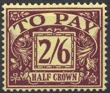 UK GB 1914 POSTAGE DUE 2sh 6d SG D54 Sc # J53 LIGHT HINGED VERY FINE