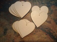 10x Wooden Heart Shapes, Laser Cut  MDF Craft 100mm x 100mm made from 4mm MDF