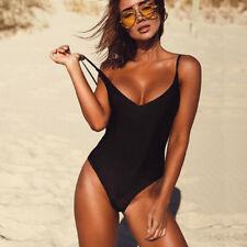 Women's One Piece Swimsuit Push Up Bikini High Cut Monokini Swimwear Beachwear