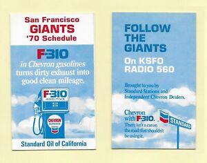San Francisco Giants Schedule  Chevron Lot of 7 - 1970 1972 1973 thru 1977