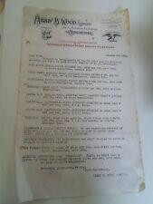 #216 Old Letter Head Harry B Wood Moosehead+Eagle Brands Oleine Manchester 1915
