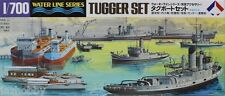 31509 1/700 Scale WaterLine Model Kit Scenery Tugger Set Hasegawa Tamiya Aoshima