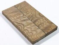 Ripple Cloud-grain Cyclobalanopsis myrsinifolia Wood Bookmatch Knife Scales