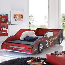 Autobett Kinderbett Bett Meteor MDF rot Hochglanz inkl. Beleuchtung 90x200 cm