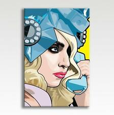 "LADY GAGA - CANVAS Fame Artpop Pop Art Poster Photo Wall Art 30"" x 20"" CANVAS"