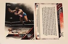 Big E - Jumbo 5x7 Serial # 03/49 2016 WWE Topps Then Now Forever New Day