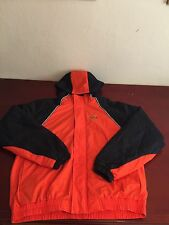 Oklahoma State Full Zip Hooded Jacket Orange And Black Size L