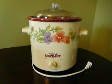 Vintage 3.5 Qt. Rival Crock-Pot w/ Floral Design - Model 3100 - Works Perfectly!
