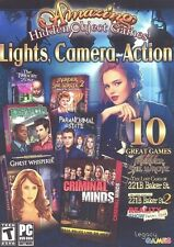 NEW PC Amazing Hidden Objects Games Lights, Camera, Action ~ 10 Games!