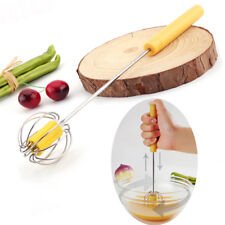 stainless steel press hand rotating whisk wire mixer egg beater stiring too Eg