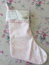 Rachel Ashwell Simply Shabby Chic pink quilt rhinestone crown Christmas stocking