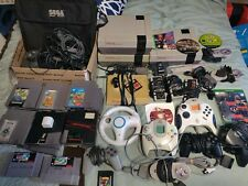 Large Bundle NES SNES Xbox one PS2 Consoles 36 Games Tons of Extras Dreamcast