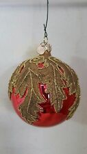DEPT 56 MODERN GLASS & GLITTER CHRISTMAS TREE HOLIDAY ORNAMENT CZECH REPUBLIC
