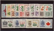 Canada 1964-66 #417 - 429a Provincial Flowers Complete Stamp Set of 14 MNH !