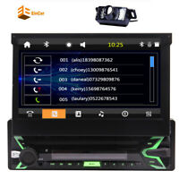 """Single 1Din Car Stereo Bluetooth GPS Map 7"""" Radio Touch screen MP5 Player+Camera"""