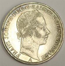 1861 A  Austria Thaler silver coin KM2244 AU58