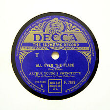 "ARTHUR YOUNG'S SWINGTETTE ""All Over The Place"" (E+) DECCA F-7687 [78 RPM]"