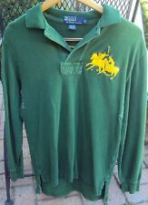 Men's POLO by Ralph Lauren RUGBY #3 Large Pony Logo 100% Cotton shirt Size S