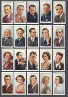 1934 Wills's Radio Celebrities Tobacco Cards Complete Set of 50