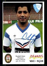 Madjid Glatz VFL Bochum 1989-90 Autogrammkarte Original Signiert + A 85922