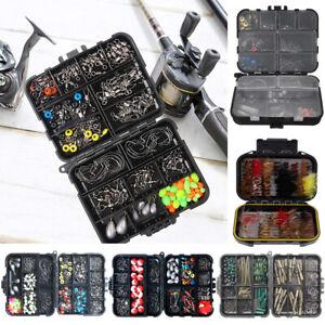 100-263 Fishing Tackle Box Kits Jig Hooks Bullet Bass Casting Sinker Swivel Bead