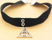 90's Harry Potter noir velours tour de cou collier Gothique Goth Fait à la main