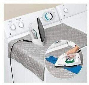 Portable Magnet Ironing Mat Foldable Mat Iron Anywhere Heat Resistant 68X48CM