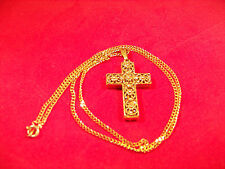 Gold Cross Pendant and Chain - Nice First Communion / Confirmation Gift