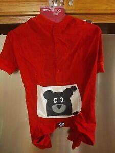 Petrageous Teddy Bear Pajamas Red Medium
