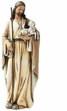 Good Shepherd Jesus Holding Lamb Holy Statue Religious Figurine