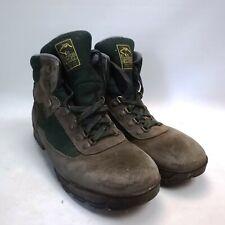 Nee Bee Vintage Walking Hiking Boots Brown Green Men's UK 12 Free UK P+P