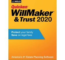Quicken Willmaker Trust 2020 Software Estate Planning Mac Windows - CD in Sleeve