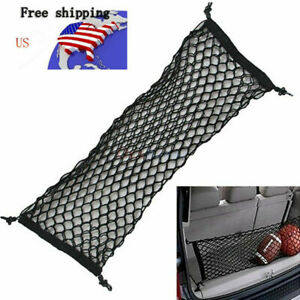 US Black Truck Bed Envelope Style Trunk Mesh Cargo Net for Ford F150 2015-2019