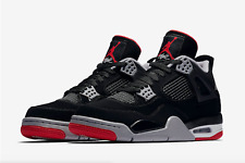 pretty nice c83b8 f4b22 Air Jordan 4 IV BRED RETRO OG 2019 Black Red 308497-060 Size 4y