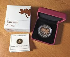 2012 1 Cent Farewell To Penny Silver Coin w/Gold Plating CANADA Box, Case & COA