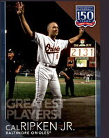2019 Topps Series 2 150 Greatest Players GP-6 Blue Parallel CAL RIPKEN Orioles
