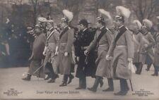 Postcard RPPC Unser Kaiser Wilhelm II mit seinen Söhnen