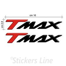 Scritte Tmax adesivi resinati Tmax T max resinate 500 530 Rosso Nero in rilievo