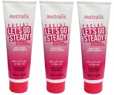 3 x AUSTRALIS 100mL FACIAL LET'S GO STEADY Gradual Tan Face Moisturiser New