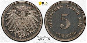 Germany 1914-J 5 Pfennig, KM-11, PCGS PR65CAM