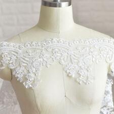 1 Yard Floral Bridal Wedding Motif Lace Trimmings Embroidery Trim Ribbon DIY